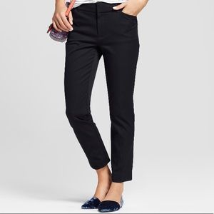 HIGH RISE ANKLE CHINO PANTS